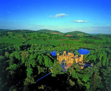 Aerial View of Eastnor Castle